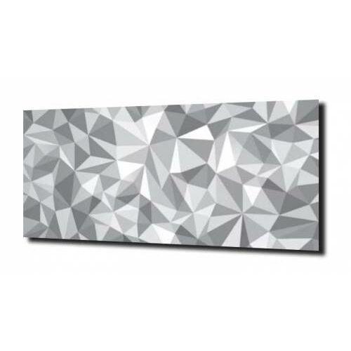obraz na szkle Geometria 3D biały wzór, F392