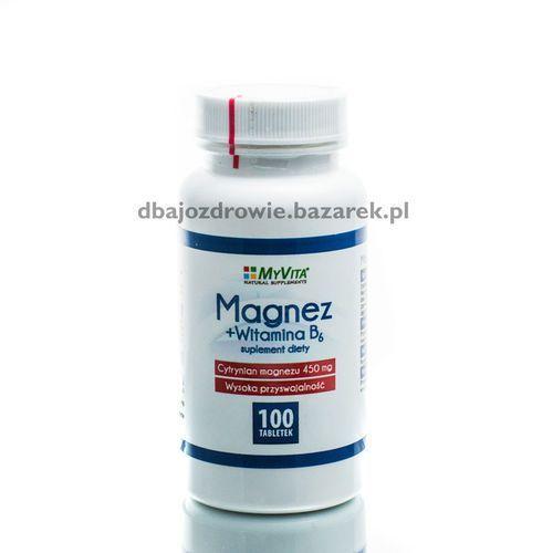 MAGNEZ (450 mg) Z WITAMINA B6, MyVita, 100 TABLETEK