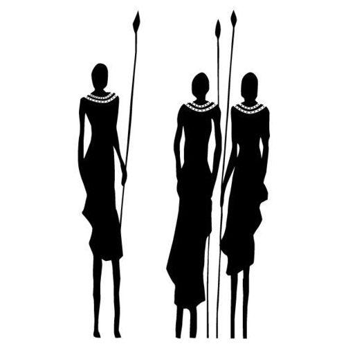 Naklejka dekoracyjna etniczna 13 - Narada masajskich wojowników