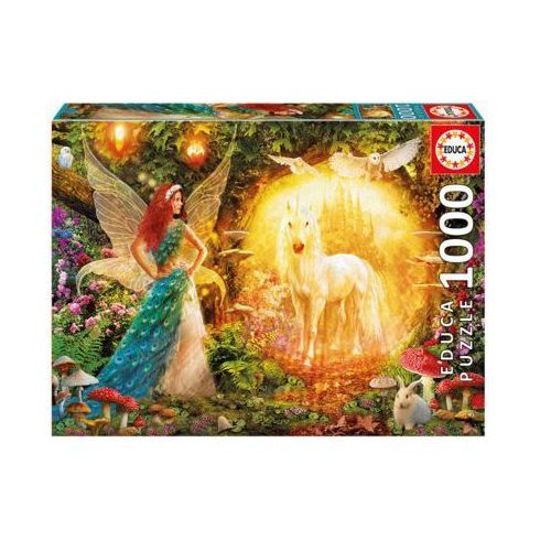 1000 el. peacock feathery fairy, marki Educa