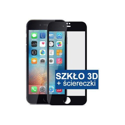 Szkło hartowane 3d 9h iphone 7 - czarny marki 4kom.pl