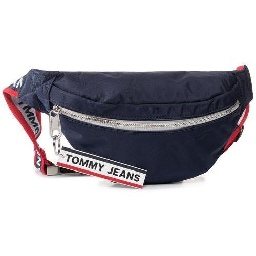 Saszetka nerka - tjw logo tape bumbag nylon aw0aw07633 cbk marki Tommy jeans