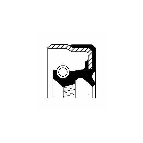 Corteco Pierścień uszczelniający wału, piasta koła  12015501b (3358960143853)