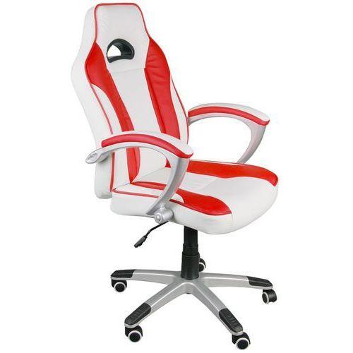 Giosedio Fotel biurowy biało-czerwony, model bsc021