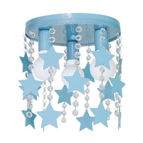 Plafon LAMPA sufitowa STAR MLP1131 Milagro dziecięca OPRAWA z kryształkami gwiazdki crystal niebieskie, MLP1131