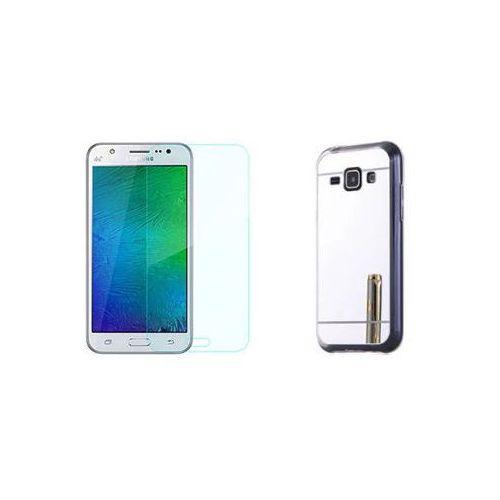 Slim mirror / perfect glass Zestaw   slim mirror case srebrny + szkło ochronne perfect glass   etui dla samsung galaxy a5