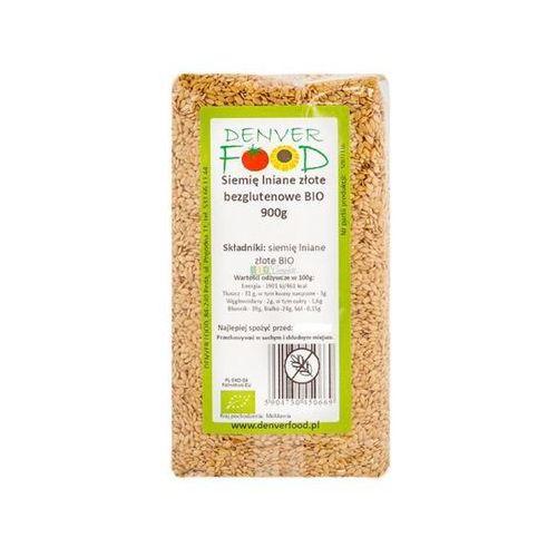Len Złoty Bezglutenowy (Siemię Lniane Złote) BIO 900 g Denver Food (5904730450669)