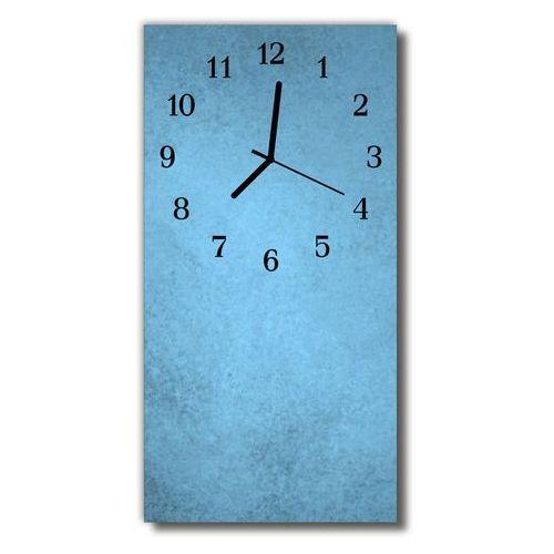 Zegar Szklany Pionowy Sztuka Błękit zamarznięty niebieski