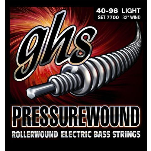 GHS Pressurewound struny do gitary basowej, 5-str. Light,.040-.096, Short Scale