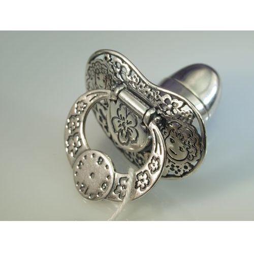 OKAZJA - Smoczek srebrny ze schowkiem na ząbek mleczny - wzór SRB016 - Pamiątka Chrztu Świętego