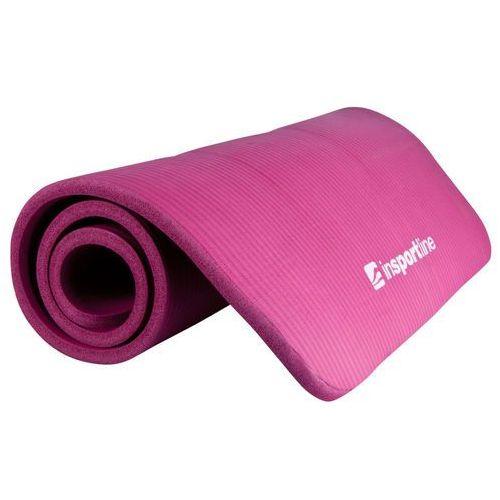 Antypoślizgowa mata do ćwiczeń fity gruba i miękka 1,5 cm, fioletowy marki Insportline