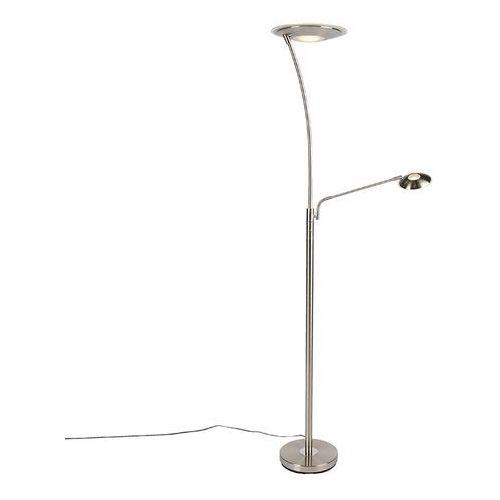 Nowoczesna lampa podłogowa stal z ramieniem do czytania zawiera LED - Monte Carlo