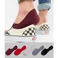 design invisible liner socks in vampy colours 5 pack - multi marki Asos
