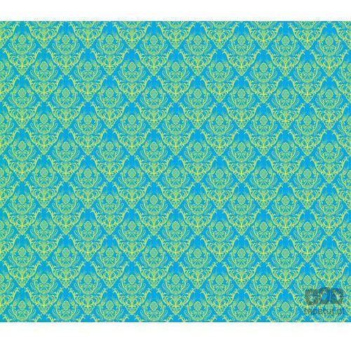Fototapeta tradycyjne kwiatowe wzory – żółte na niebieskim tle 1456 marki Consalnet