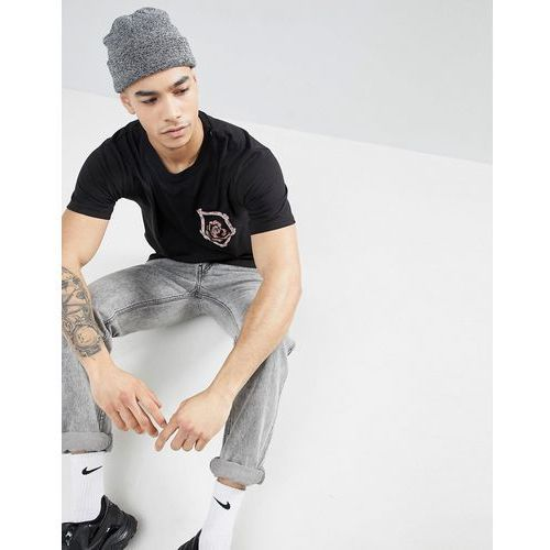 boohooMAN T-Shirt In Longline With Pocket Detail In Black - Black