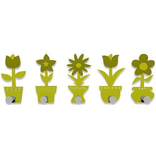Wieszak ścienny little flowers cedrowo-zielony (13-003-51) marki Calleadesign
