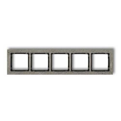 Karlik Ramka pojedyncza deco 11-12-drb-1 betonowa spód czarny ramka antracytowa (5903268582767)