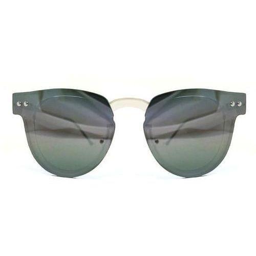 Okulary Słoneczne Spitfire Sharper Edge Clear/Silver Mirror, kolor żółty