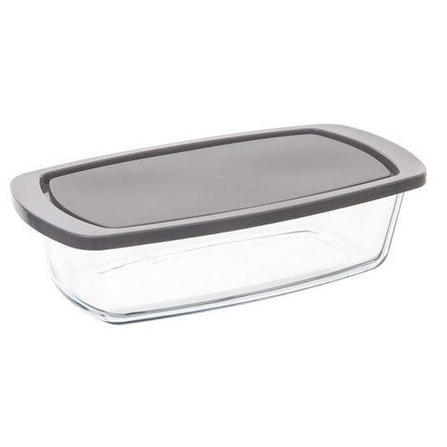 Szklany pojemnik do przechowywania żywności o wymiarach 27x14 cm w kształcie formy keksówki loaf glass mould marki Secret de gourmet