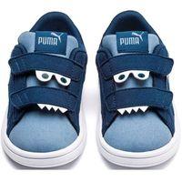 Puma buty dziecięce smash v2 monster v inf gibraltar sea-faded denim-limepunch 22 (4060979926509)