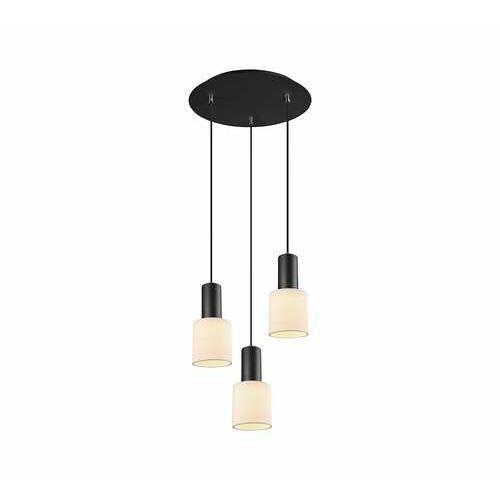 Trio wailer 303690332 lampa wisząca zwis 3x5w gu10 czarna/beżowa