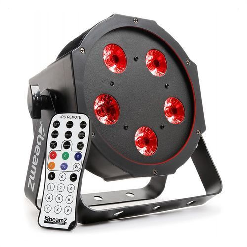 beamZ BFP120 Projektor FlatPAR LED 4-w-1 5x 8 W RGBW LED DMX pilot na podczerwień - sprawdź w wybranym sklepie
