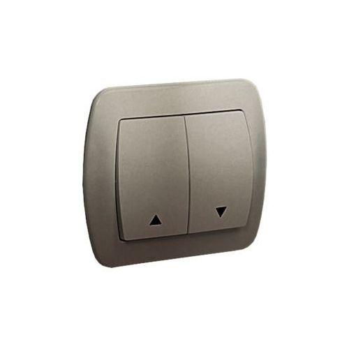 SIMON AKORD Przycisk żaluzjowy 10AX, 250V~, zaciski śrubowe; satynowy AZ1/29 WMAL-440xxx-H012 (5902787597955)