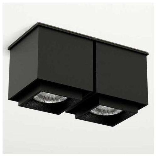 Plafon LAMPA sufitowa KAZO 1108/GU10/CZ Shilo natynkowa OPRAWA reflektorowa czarny, kolor Czarny