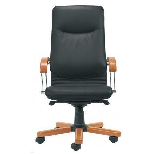 Fotel gabinetowy nova wood alu/chrome - biurowy, krzesło obrotowe, biurowe marki Nowy styl