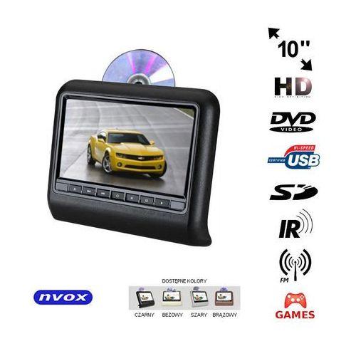 """Nvox Monitor samochodowy zagłówkowy led 10"""" hd z dvd usb sd ir fm gry (5909182422950)"""