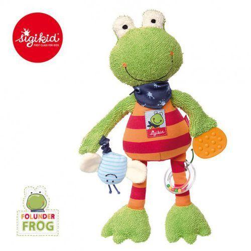 Sigikid przytulanka aktywizująca żaba folunder z gryzakiem, grzechotką i piszczałką
