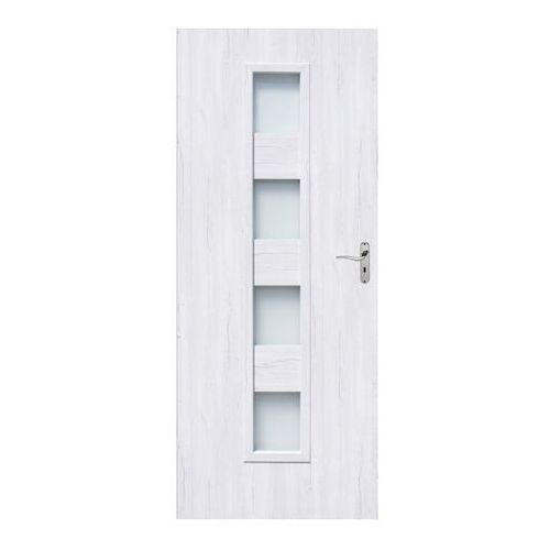 Drzwi pokojowe Alicja 90 lewe silver, ALSV/PK 90L