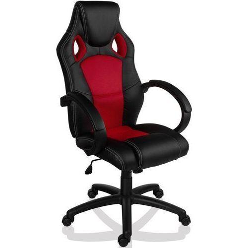 Makstor.pl Sportowy czarno czerwony fotel obrotowy biurowy - czarno - czerwony (40040316)
