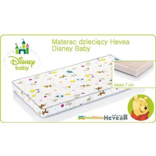 Hevea Materac lateksowy disney baby 120x60 lateks z certyfikatem euro-latex i atestem higienicznym pzh i 100% bawełny w pokrowcu!