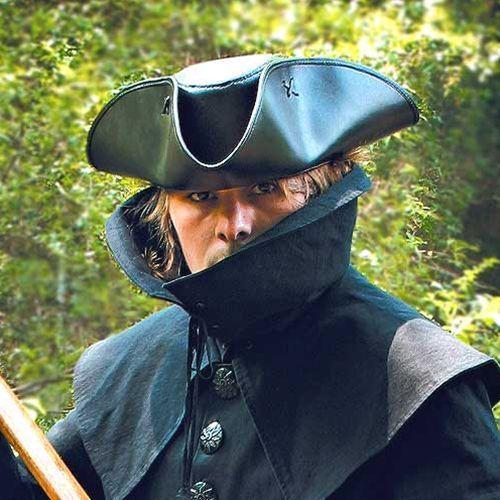 Skórzany kapelusz kapitana jacka tricorna (ws200550), Płatnerze