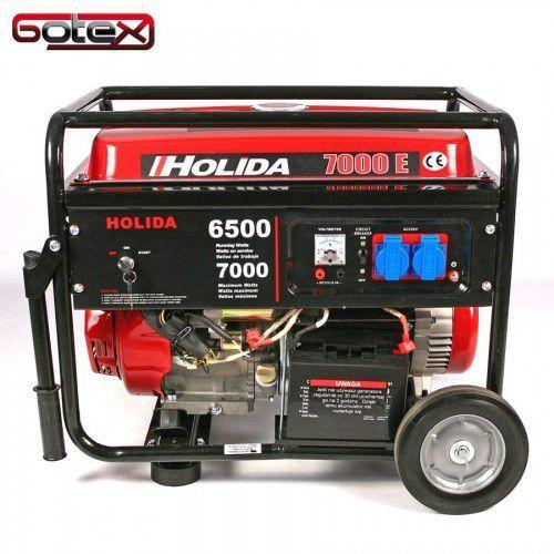 Agregat prądotwórczy, generator wm 7000e jednofazowy 7 kw - elektryczny rozruch marki Holida