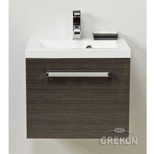 Gante Grafitowa szafka wisząca z umywalką 50/39 seria fokus fino