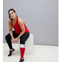 Nike Plus Training Colourblock Leggings In Red - Red, w 2 rozmiarach