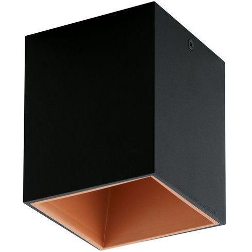 Plafona Eglo Polasso 94496 lampa oprawa sufitowa spot 1x 3,3W czarny/oczech LED