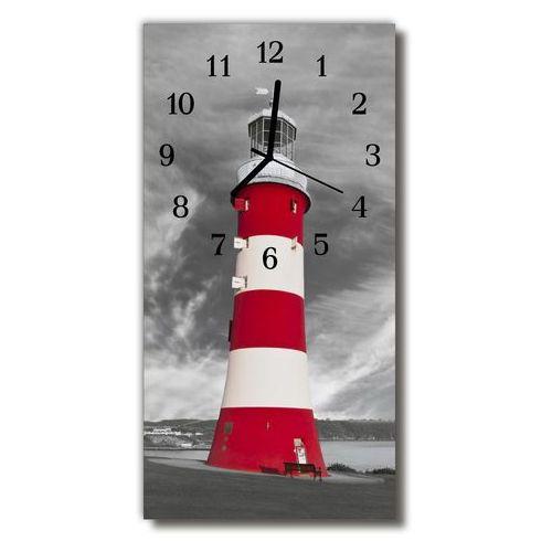 Tulup.pl Zegar szklany pionowy krajobrazy latarnia morska kolorowy