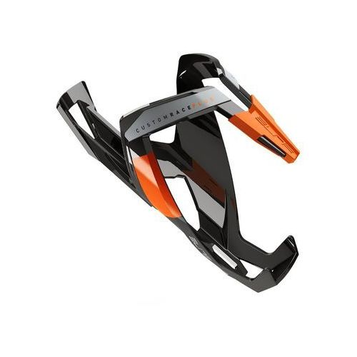 Koszyk na bidon ELITE Custom Race Plus czarny-pomarańczowy / Wykończenie: połysk