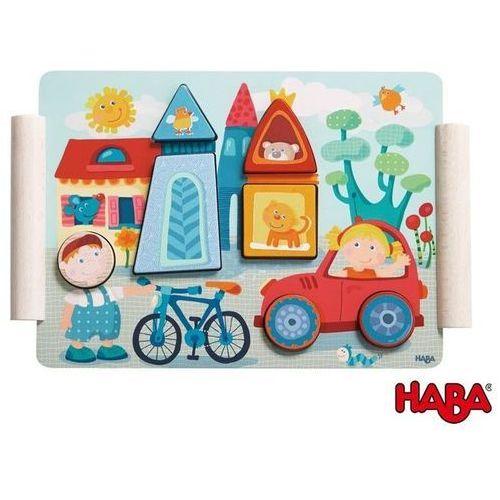 Haba Drewniane Puzzle - Miasteczko i Wieś - produkt z kategorii- Puzzle