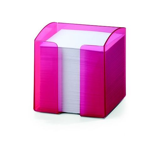 Pojemnik z karteczkami TREND DURABLE, różowy przezroczysty (4005546106038) - OKAZJE
