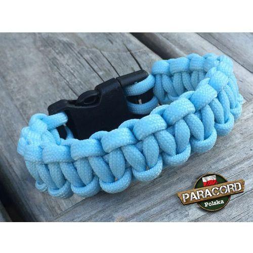 """Bransoleta z paracordu typ """"cobra - crystal blue"""" z wplecioną plastikową klamrą marki Paracord polska"""