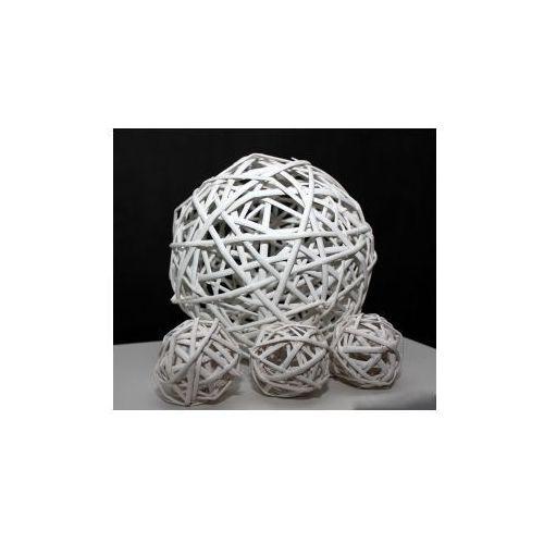 Pozostali Wiklinowa kula dekoracyjna biała 25 cm