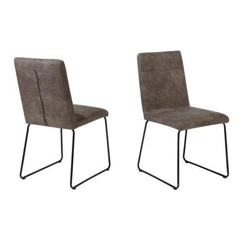 Zestaw do jadalni 2 krzesła antyczny brąz NEVADA (7105277348398)