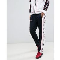 Kappa joggers with popper side fastening and logo taping in black - Black, w 5 rozmiarach