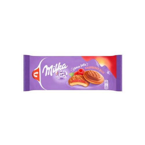 Biszkopty z galaretką malinową marki Milka