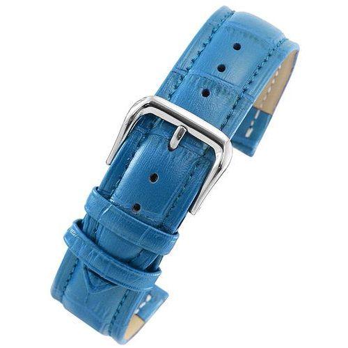 Pasek skórzany PACIFIC W100 do zegarka - w pudełku - niebieski - 20mm