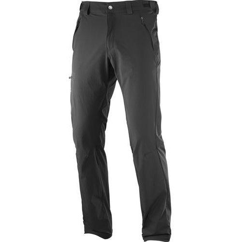 Salomon wayfarer spodnie długie mężczyźni regular czarny 48 2018 spodnie turystyczne